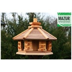 Wooden bird table KWN-XL-OP